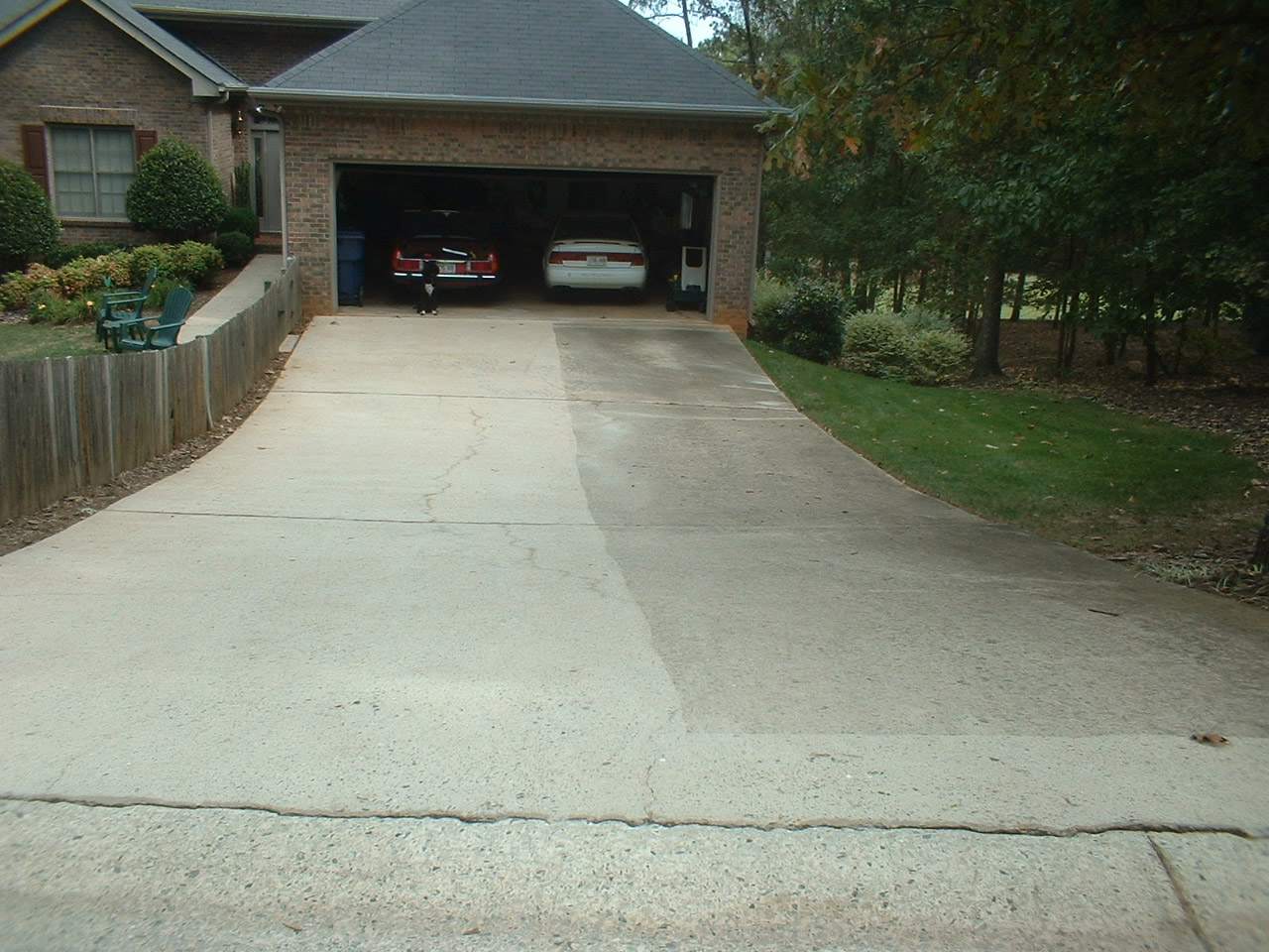 pressure wash driveway